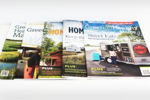 Green & Healthy Maine magazine design