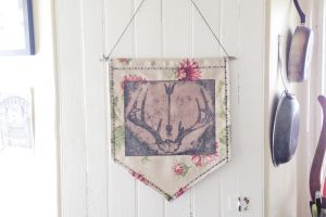 Antler and Arrow Banner