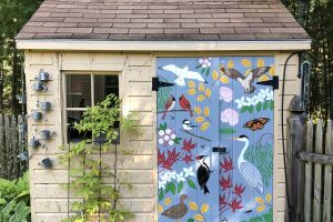 Garden Shed Door Mural featured image