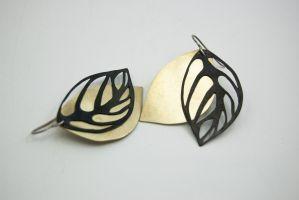 Ghost Leaf Earrings