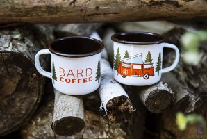 Bard Coffee Camp Mug