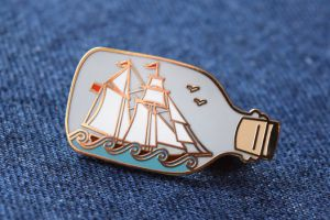 Ship in a Bottle Pin