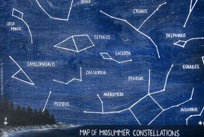 Midsummer Constellation Map