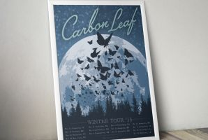 Carbon Leaf Winter Tour Poster