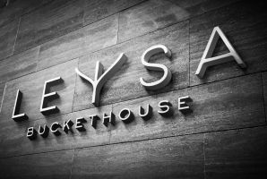 Leysa Restaurant Wall Sign