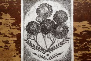 Chrysanthemum Fabric Patch