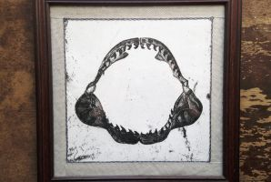 Shark Jaw Framed Print