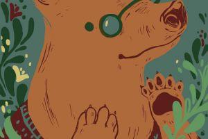 Curious Bear Poster