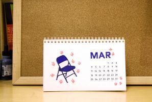 Lawn Chair Desk Calendar