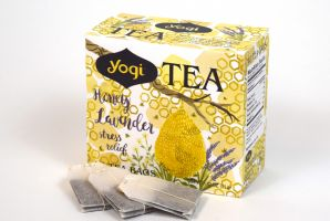 Honey Lavender Stress Relief Tea Packaging