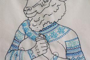 Icelandic Sheepwoman (Blue)