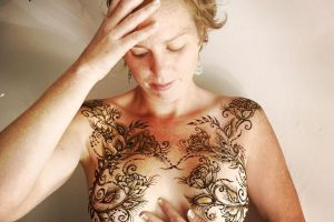 body art breast cancer photo
