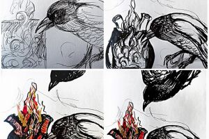 crow heart  featured image